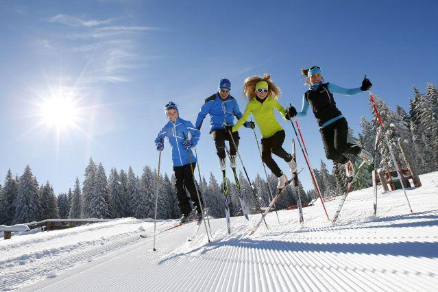 Ski de fond dans la vallée de la Clarée - France